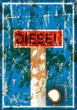 Verbod op diesel auto's in Duitse steden, vector stock illustratie