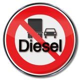 Verbod voor diesel royalty-vrije illustratie