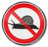 Verbod voor slakken vector illustratie