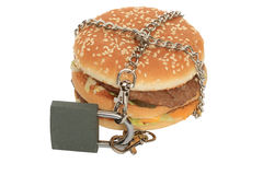 Verboden hamburger Stock Afbeelding