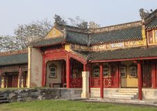 Verboden stad achter het Paleis van Opperste Harmonie, Keizerstad binnen de Citadel, Tint, Vietnam royalty-vrije stock foto