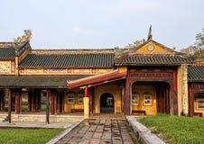 Verboden stad achter het Paleis van Opperste Harmonie, Keizerstad binnen de Citadel, Tint, Vietnam royalty-vrije stock afbeeldingen