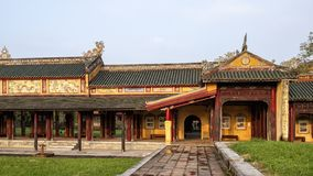Verboden stad achter het Paleis van Opperste Harmonie, Keizerstad binnen de Citadel, Tint, Vietnam stock fotografie