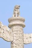 Verboden Stad in de ingang van Peking Royalty-vrije Stock Afbeelding