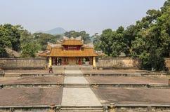 Verboden Stad, de poorten aan het complexe paleis, Tint, Vietnam stock fotografie