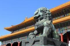 Verboden Stad (het Museum van het Paleis) in Peking, China Stock Foto's