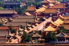 Verboden Stad, het Paleis van de Keizer, Peking, China Stock Afbeelding