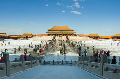 Verboden stad na sneeuw Royalty-vrije Stock Foto