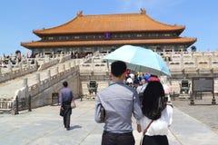 Verboden stad in Peking Royalty-vrije Stock Foto