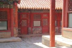 Verboden stad in Peking Stock Foto's