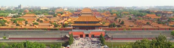 Verboden stad in Peking Royalty-vrije Stock Foto's