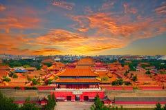 Verboden Stad, Peking royalty-vrije stock afbeeldingen