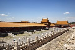 Verboden stad Peking China Stock Foto