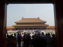 Verboden Stad, Peking, China royalty-vrije stock foto