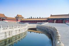 Verboden stad in Peking, China Stock Afbeelding