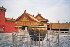 Verboden Stad in Peking, China Stock Foto's