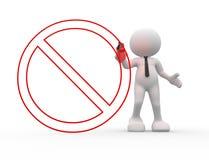 Verboden teken Stock Foto's