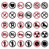 Verboden tekens Stock Foto's