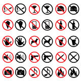 Verboden tekens Stock Afbeeldingen