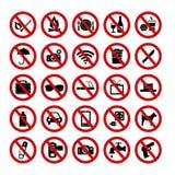 Verboden tekens Royalty-vrije Stock Foto