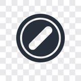 Verboden vectorpictogram op transparante achtergrond, Verboden embleemontwerp stock illustratie
