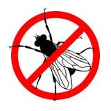 Verbodsteken geen vliegen royalty-vrije illustratie