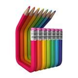 Verbogene farbige abstrakte Bleistifte Lizenzfreie Stockfotos