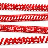 Verbogener Aufkleber des Vektors Verkauf Lizenzfreies Stockbild