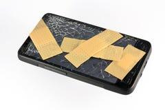 Verbonden cellphone Stock Afbeelding
