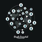 Verbonden de mensen ontwerpen Royalty-vrije Stock Afbeeldingen