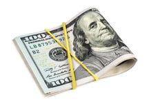 Verbonden dollars op een witte achtergrond Stock Afbeelding