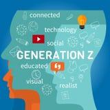 Verbonden generatie z stock illustratie