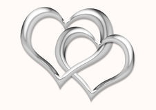 Verbonden harten stock afbeelding