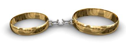 Verbonden ringen (het knippen inbegrepen weg) Stock Afbeeldingen