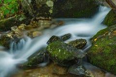 Verborgen Draperende waterval in Blauw Ridge Mountains van Virginia, de V.S. royalty-vrije stock fotografie