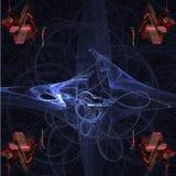 Verborgen geheimen van fractals Stock Foto's