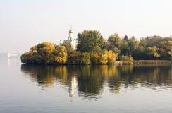 Verborgen Klooster van het Eiland van het Klooster, de Oekraïne Royalty-vrije Stock Foto