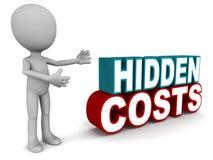 Verborgen kosten stock illustratie