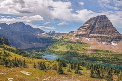 Verborgen Meer Het Nationale Park van de gletsjer montana De V.S. royalty-vrije stock foto