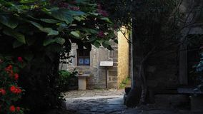 Verborgen passage in Groznjan royalty-vrije stock foto's