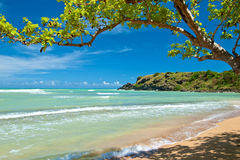 Verborgen strand, Puerto Rico stock foto's