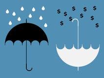 Verborgen Voordelen van paraplu Royalty-vrije Stock Fotografie