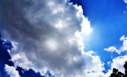 Verborgen zon! Stock Afbeelding