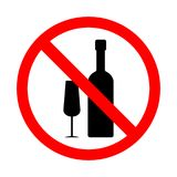 Verbot auf Alkoholzeichen Vektor Abbildung
