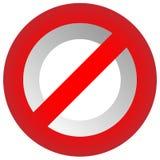 Verbot, Beschränkungszeichen Rot kein Eintritt, tragen nicht Zeichen ein Lizenzfreie Stockfotos