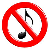Verbot der Geräusche und der Musik Stockbilder