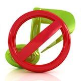 Verbot der Geräusche und der Musik Lizenzfreie Stockfotos