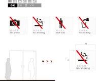 Verbot kein Stoppschild Stockfotografie