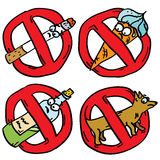 Verbot kritzelt Zeichen Lizenzfreies Stockfoto