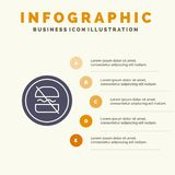 Verbot, verboten, Diät, nährend, schneller fester Schritt-Darstellungs-Hintergrund Ikone Infographics 5 stock abbildung